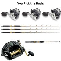 3 Rod and Electric Reel Kite Combo