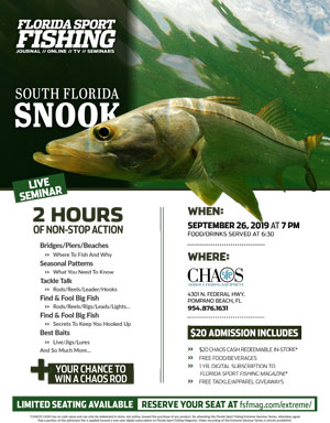 Extreme Seminar Series: South Florida Snook September 26th