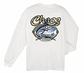 Long Sleeve CHAOS Rods T-Shirt White