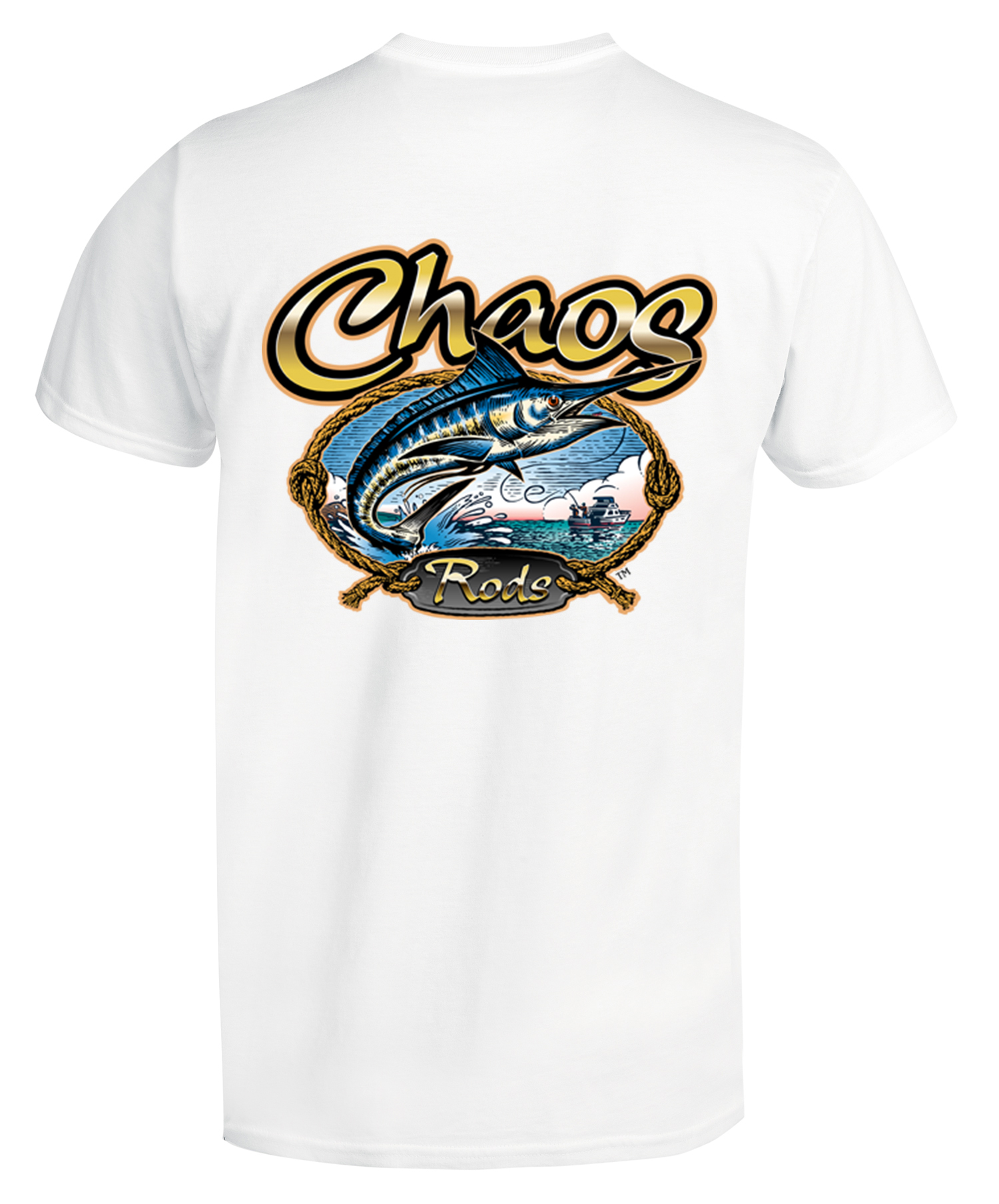 Chaos short sleeve rods t shirt for Chaos fishing rods