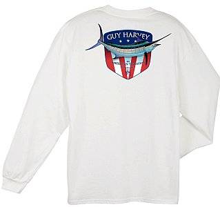 Guy Harvey Down Home Long Sleeve Shirt White Small