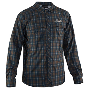 Flybridge Long Sleeve Shirt Dusty Turquoise Plaid - Small