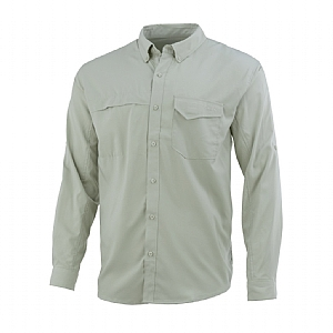 Huk Tide Point Woven Solid Long Sleeve Shirt