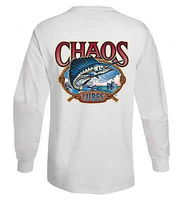Long Sleeve CHAOS Lures T-Shirt White
