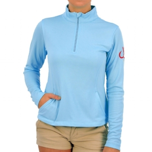 Woman's Performance 1/4 Zip-up Blue