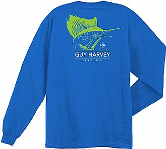 Guy Harvey Mohawk UVX Long Sleeve Tee Small