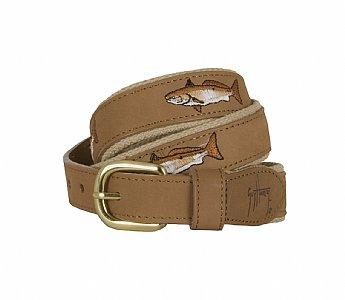 Redfish Leather Belt Khaki