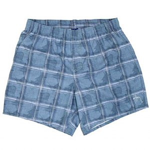 Sailfish Plaid Volley Shorts Midnight Small
