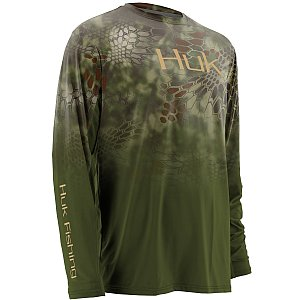 Huk Kryptek Fade ICON Long Sleeve Mandrake Small