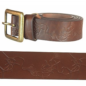 Marlin Lure Leather Belt Size