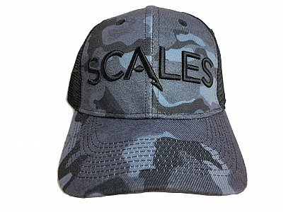 SCALES Iconic Low Crown Camo Black