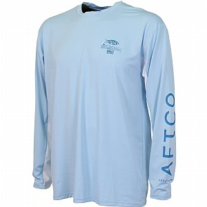 AFTCO Cypher Performance LS Shirt Sky Blue