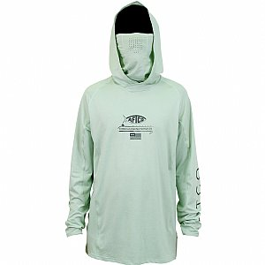 AFTCO Barracuda Geo Cool Hooded Long Sleeve Performance Shirt