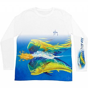 Guy Harvey Mahi Reflection Long Sleeve Tee Small