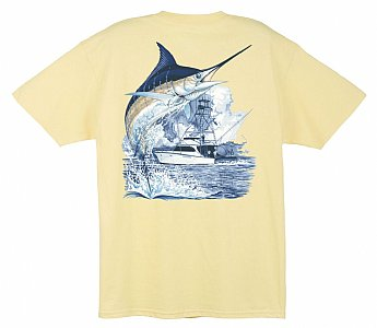 Marlin and Boat Short Sleeve Small