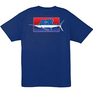Guy Harvey Half and Half T-Shirt Dark Blue Small