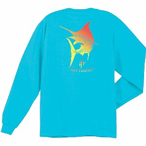 Marlin Scribble Long Sleeve Reef Blue Small