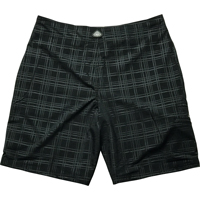 Mojo Black Plaid Tec Shorts Size 28