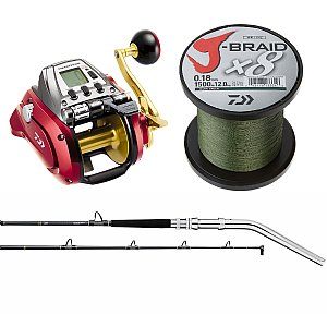 Daiwa Seaborg Combo with Tanacom Dendoh  and x4 JBraid