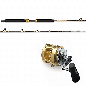 Show product details for CHAOS KC 10-25 7' Live Bait Rod and Shimano TIAGRA 20A 2 Speed Reel Spooled with SUFIX Mono