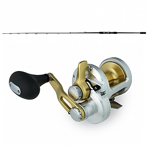 Show product details for Shimano Talica 8 and CHAOS Slow Jig 200G 6FT3IN