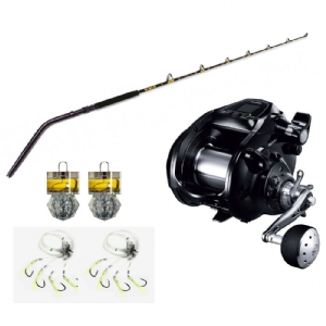 Show product details for CHAOS SW80 Deep Drop Rod paired with Shimano Forcemaster 9000, plus Deep Drop Rigs, Lights and lead!