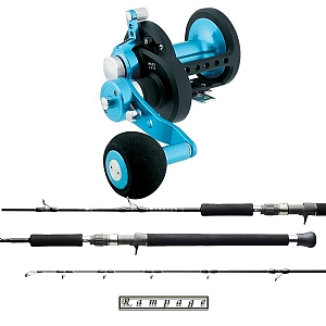 Jigging Combo Daiwa Saltist Star Drag Power Gear 50P Reel with Temple Reef Rampage Rod