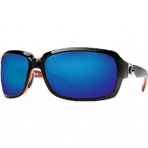 COSTA Isabela 580P Blue Mirror Shiny Black/Coral