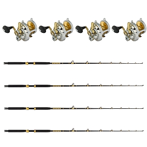 Show product details for Live Bait Combo Set of 4 Shimano TALICA 16 LD with KC 15-30 7FT Rods