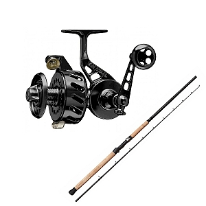 Show product details for Van Staal VS-X 150 Black with SHIMANO Teramar West Coast Spinning X80MH Combo