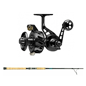 Show product details for Van Staal VS-X 150 Black with SHIMANO Teramar XX South East Spinning 80XH Combo