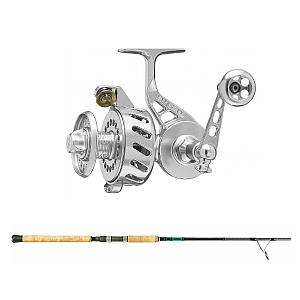 Show product details for Van Staal VS-X 150 Silver with SHIMANO Teramar XX South East Spinning 80XH Combo