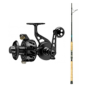 Show product details for Van Staal VS-X 200 Black with SHIMANO Teramar XX South East Spinning Rod 80XXH