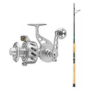Show product details for Van Staal VS-X 250 Silver with SHIMANO Teramar XX South East Spinning Rod 80XXH
