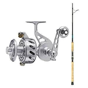 Show product details for Van Staal VS-X 275 Silver with SHIMANO Teramar XX South East Spinning Rod 80XXH