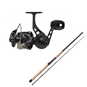 Show product details for Van Staal VSB-X Bailed Spin 100 Black with SHIMANO Teramar West Coast Spinning X80MH Combo