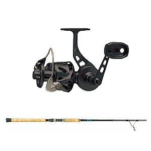 Show product details for Van Staal VSB-X Bailed Spin 100 Black with SHIMANO Teramar XX South East Spinning 80XH Combo