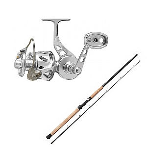 Show product details for Van Staal VSB-X Bailed Spin 100 Silver with SHIMANO Teramar West Coast Spinning X80MH Combo