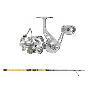 Show product details for Van Staal VSB-X Bailed Spin 100 Silver with SHIMANO Teramar XX South East Spinning 80XH Combo