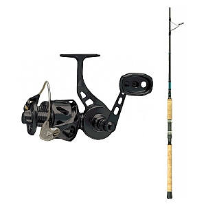 Show product details for Van Staal VSB-X Bailed Spin 200 Black with SHIMANO Teramar XX South East Spinning Rod 80XXH