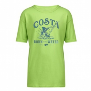 Costa  Baja Kid's T-Shirt Lime Green