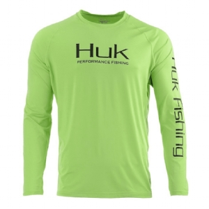 Huk Pursuit Vented Long Sleeve Lichen