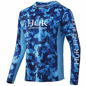 Huk Youth Icon X Refraction Camo Hoodie