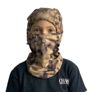 CHAOS Youth Facemask Brown Camo