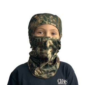CHAOS Youth Facemask Green Camo