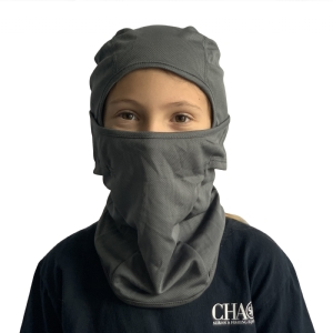 CHAOS Youth Facemask Grey