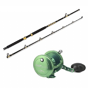 CHAOS KC 15-30 7FT CHOAS Gold Rod with AVET LX 6.0 Lever Drag Casting Reel Combo