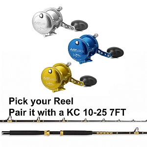CHAOS KC 10-25 Rod 7FT with AVET MXL 5.8 Lever Drag Casting Reel Combo