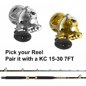 CHAOS KC 15-30 Rod with AVET LX 6/3 G2 Lever Drag Casting Reel Combo