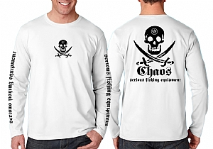 Long Sleeve Performance Pirate White
